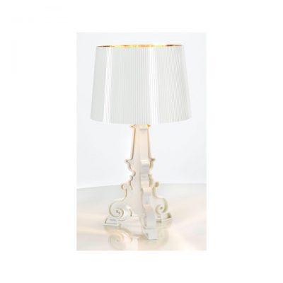 Lampe Bourgie blanc et doré
