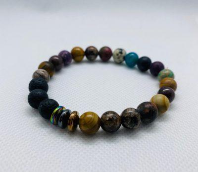 Bracelet bois et pierre