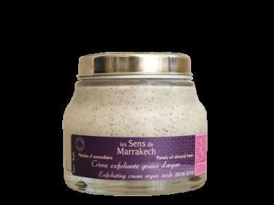 Crème exfoliante grains d'argan Pétales d'amandiers