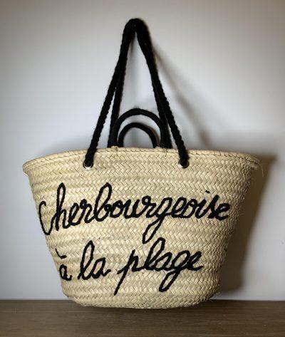 """Panier """"Cherbourgeoise à la plage"""" noir"""