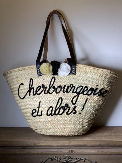 """Panier """"Cherbourgeoise et alors"""" noir"""