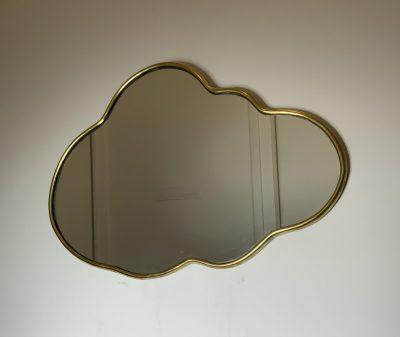 """Miroir """"Nuage"""" bord fin"""