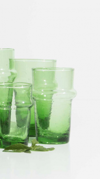 Verres Beldi Lot de 6 vert