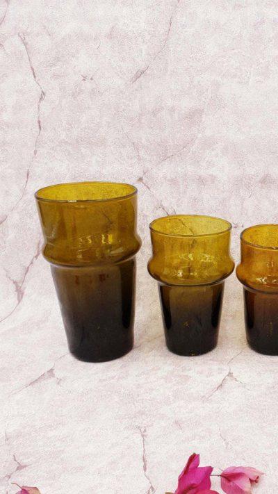 Le verre Beldi Lot de 6 ambré