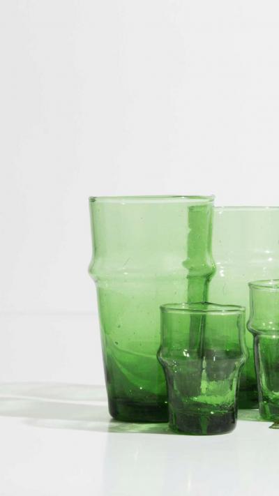 Verrines Beldi Lot de 6 vert