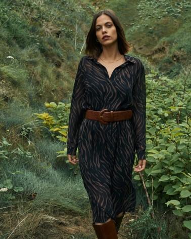 """Robe """"Bertha"""" noire"""