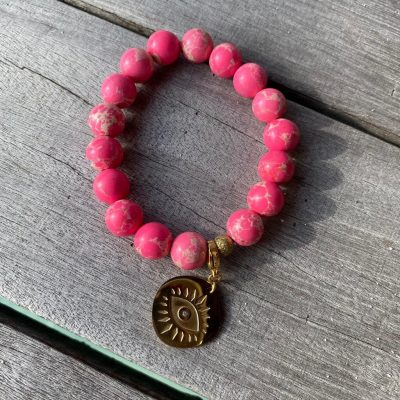 "Bracelet holbox ""oeil rose"""