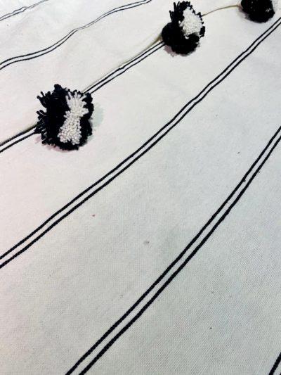 Plaid blanc & noir