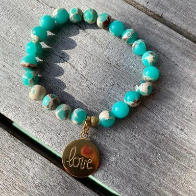 "Bracelet Holbox ""love turquoise"""