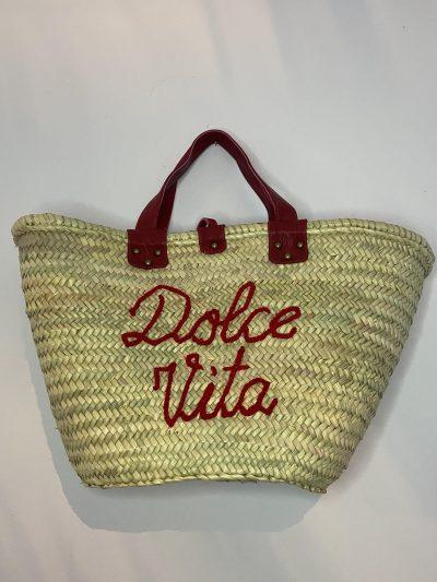 """Panier """" dolce vita bordeaux intérieur tissu """""""