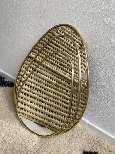 "Miroir ""Œuf"" bord fin"