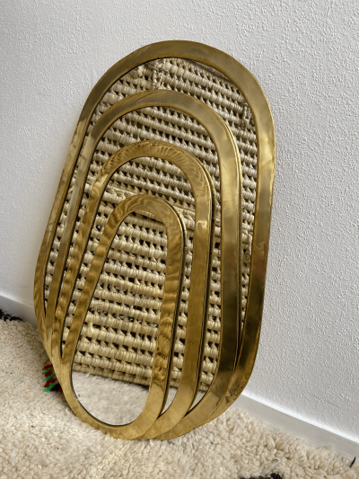 "Miroir ""Oval"" bord large"
