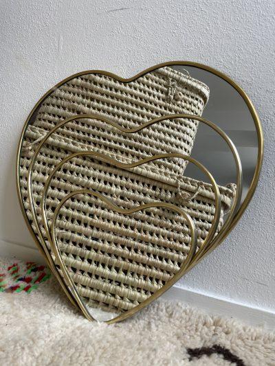 "Miroir ""Cœur"" bord fin"