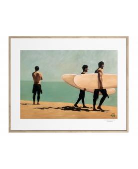 "Affiche "" Walking surfers 2″"