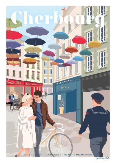 """Cadre """" Cherbourg"""" édition spécial 30×40"""