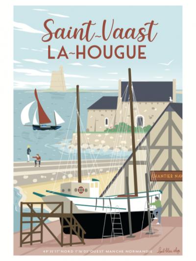 """Affiche """"St-Vaast la Hougue """" 50×70"""