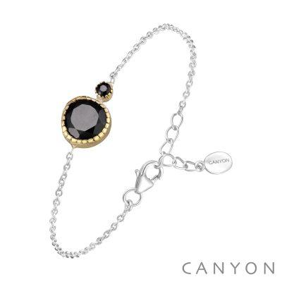 Bracelet chainette argent et laiton