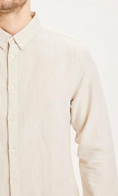 Chemise beige coton