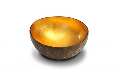 "Bol en noix de coco ""Gold Metallic Leaf"""