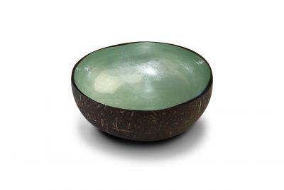 """Bol en noix de coco """" Mint Green Metallic Leaf"""""""