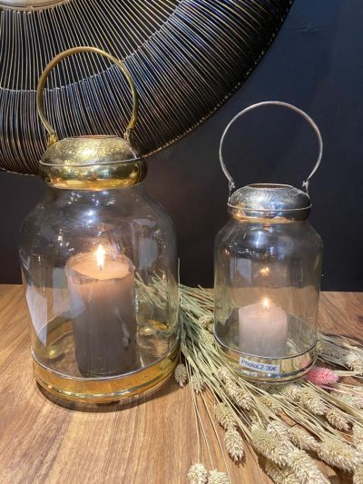 Lanterne ronde- argenté