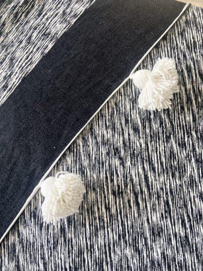 Plaid gris & noir chiné