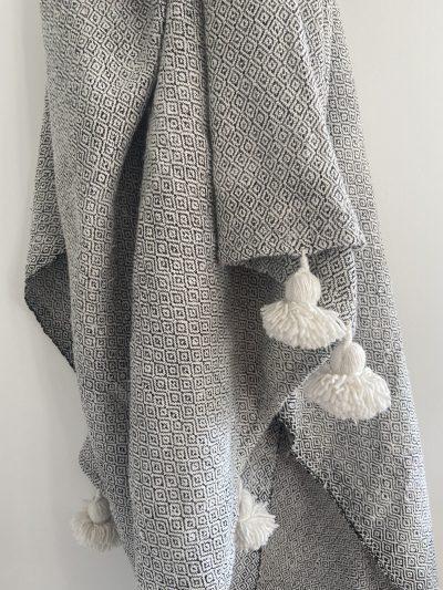 Plaid motif noir & blanc