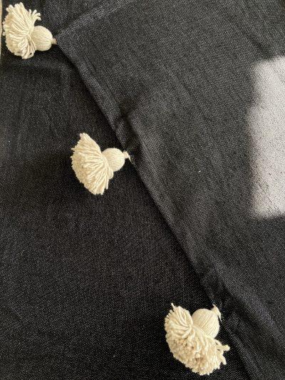 Plaid noir & beige