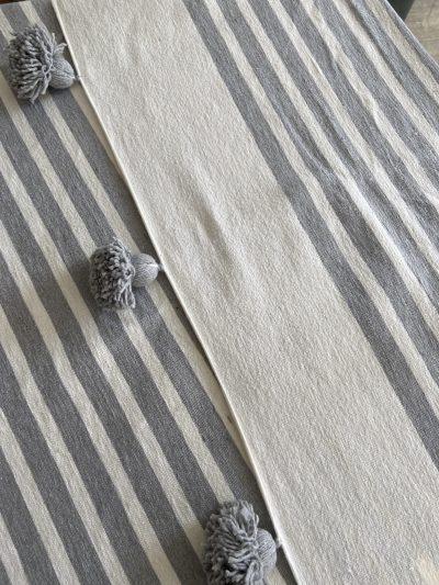 Plaid gris & blanc