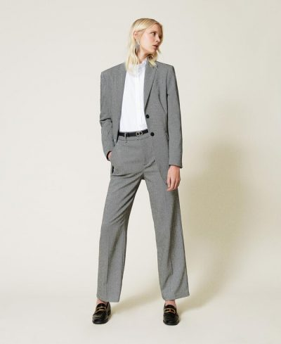 Pantalon ample en laine