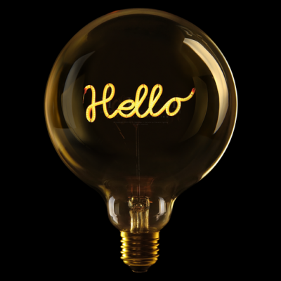 """Ampoule """"Hello"""""""