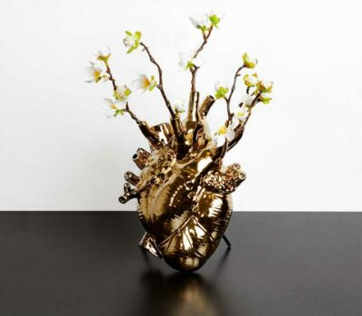 """Vase """"Love in bloom"""" gold"""