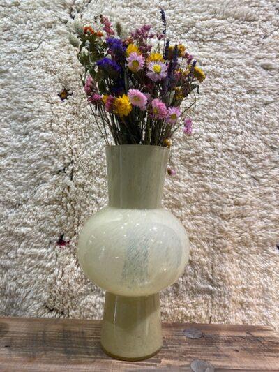 Vase soufflé blanc
