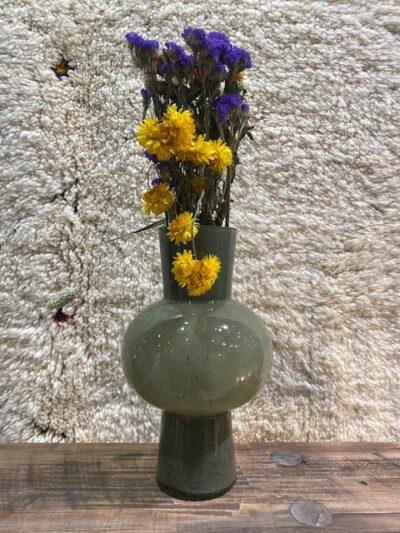 Vase soufflé vert